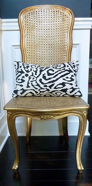 Gold spray painted chair :)