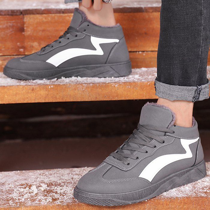 Man Sports Shoes Sneakers Lace Up Warm