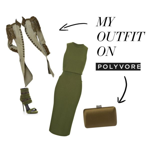 Military style. by fashionandmore-blog on Polyvore featuring moda, Topshop, Balmain, Giuseppe Zanotti and Prada