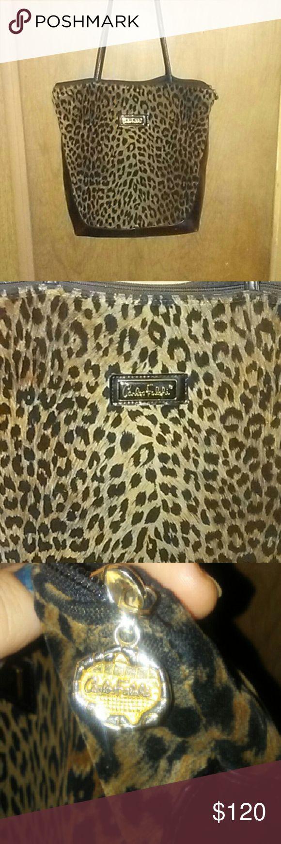 Authentic Carlos Falchi jaguar skin tote Authentic Carlos Falchi jaguar skin tote carlos falchi Bags Totes