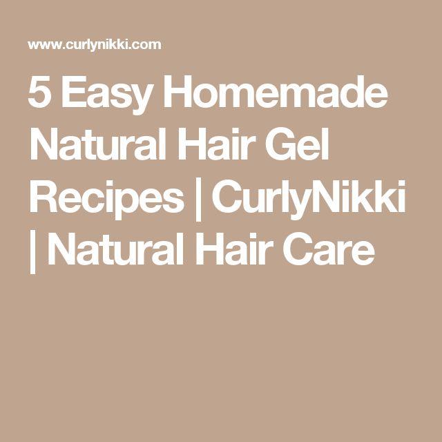 5 Easy Homemade Natural Hair Gel Recipes   CurlyNikki   Natural Hair Care