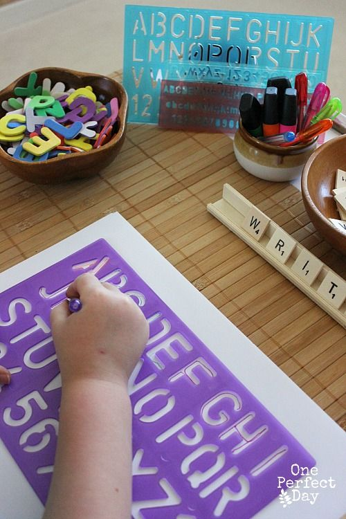 encouraging writing with a literacy table one perfect day