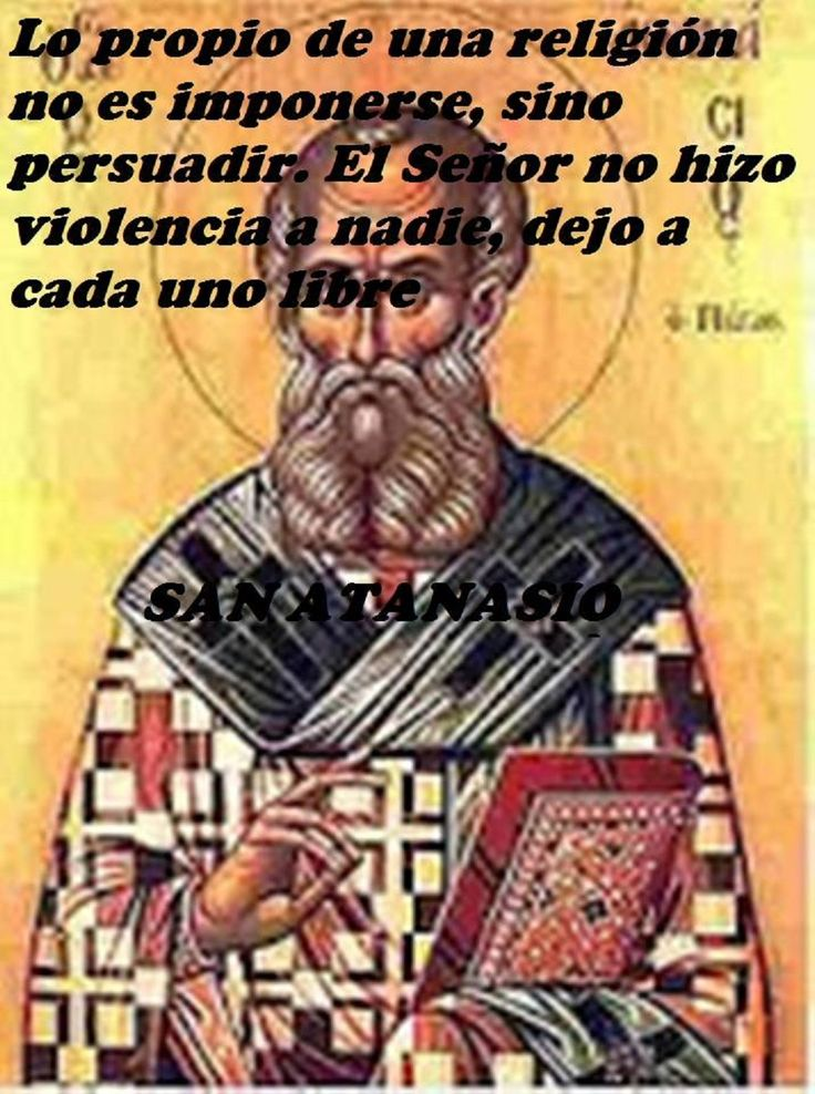 What is proper to a religion is not to impose itself but to persuade. The Lord did no violence to anyone; Left everyone free. St. Athanasius