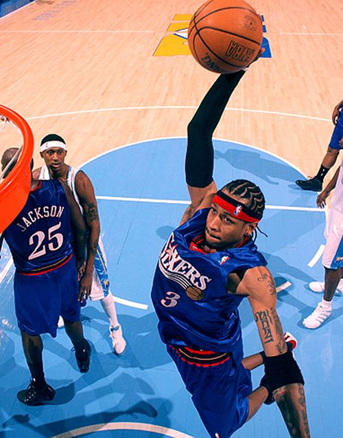 Allen iverson dunks it down!