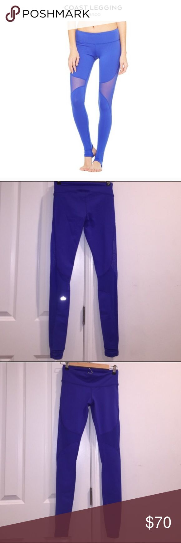 Alo Coast Leggings Blue Selling Alo stirrup leggings. This color is sold out online! ALO Yoga Pants Leggings