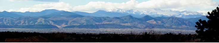 Eastern edge of Rocky Mountains  near Denver.