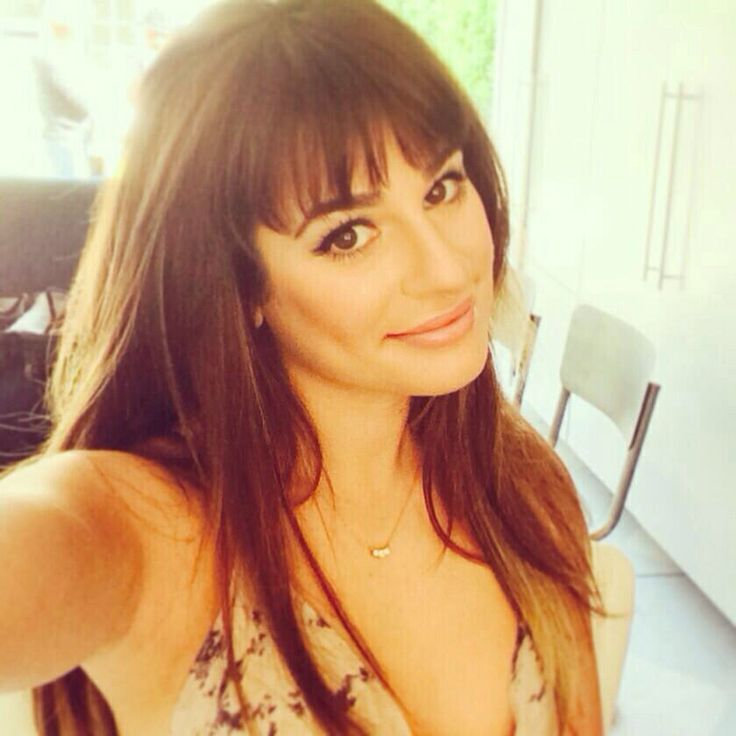Lea Michele- i love where her bangs start, they're not too far back