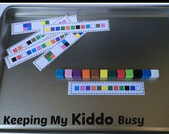Attività di corsa magnetiche scuola materna di KeepingMyKiddoBusy