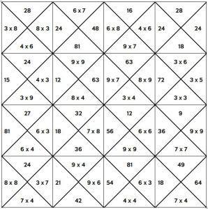 Maaltafels inoefenen met een tafelpuzzel (en andere rekenspelletjes)