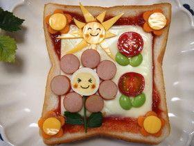 デコトースト♡簡単お花トーストで朝ごはん