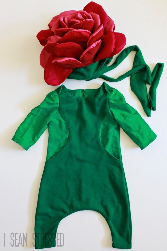 red rose flower costume
