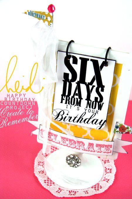 Birthday Countdown calendar: Cent Frame, Countdown Printable, Countdown Calendar, Birthday Gift, Gift Ideas, Birthday Countdown, Recipe Book
