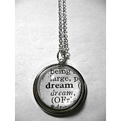 "Recycled Dictonary ""Dream"" Necklace"