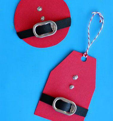 Santa gift tags from soda can tabs // Mikulásos ajándékkísérő kártya nyitófülből // Mindy - craft & DIY tutorial collection