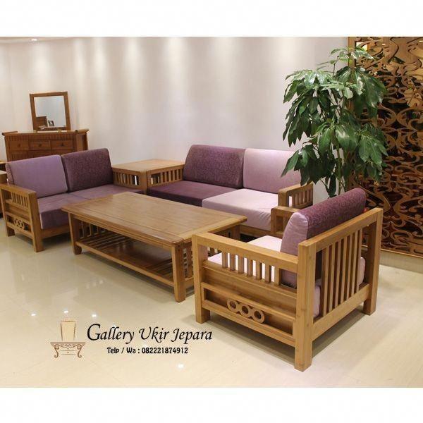 Set Kursi Tamu Jati Minimalis Simple Sillonesmodernos Wooden Sofa Designs Living Room Sofa Design Sofa Furniture