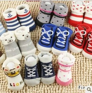 5Pairs/Lot New born baby cartoon socks non-slip socks baby socks children boy girl socks infant meias bebe menina para