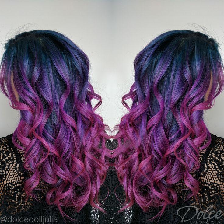 #MermaidHairGoals right here! For colorful mermaid hair, Julia Hobbs in Chandler is your girl. Call 480-722-0500 to book! #dolcesalonandspa #dolcesalonspa #mermaidhair #purplehair #bluehair #vividhair #balayage #specialeffects #americansalon #azsalon #azspa #arizonasalon #arizonaspa