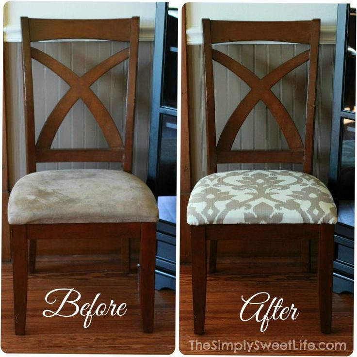 Best 25 recover dining chairs ideas on pinterest for Ideas for reupholstering dining room chairs