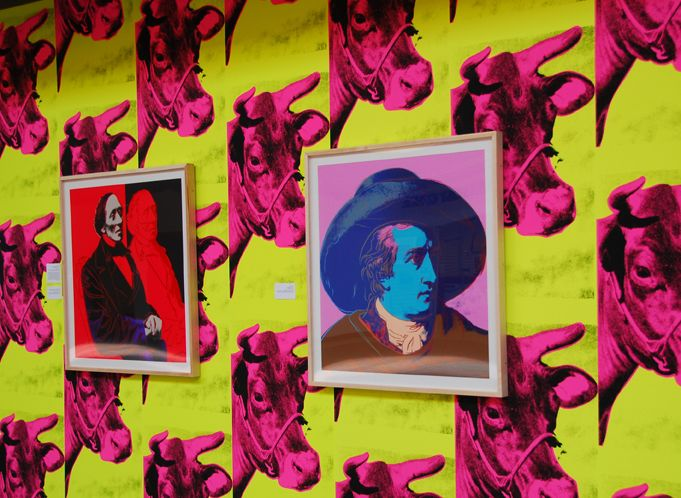 Andy Warhol or Elaine Sturtevant wallpaper and prints? Andy Warhol.