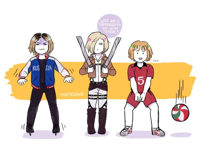 Kenma Kozume & Yuri Plisetsky & Armin Arlert [Haikyuu & Yuri on Ice & Shingeki no Kyojin Cross-Over]