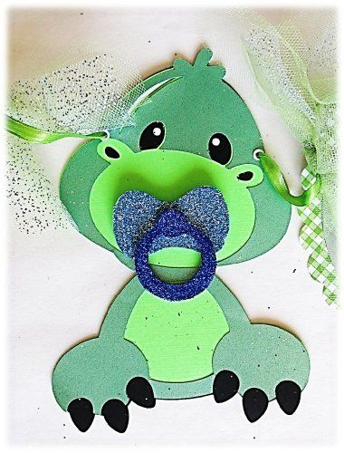 """Baby Shower Banner - Dinosaur with a Pacifier """"It's a Boy"""" by Just for You by Kinga, http://www.amazon.com/dp/B00GLDOL64/ref=cm_sw_r_pi_dp_eljGsb1EQNAVD"""