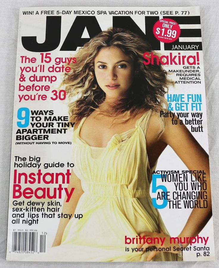 Jane Fashion Magazine January 2006 Shakira Brittnay Murphy No Label New OOP Rare