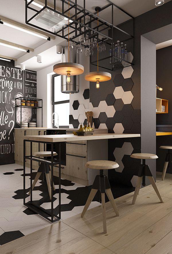 small kitchen Design by Vladimir YarockiyVisualization by Vladimir Yarockiy