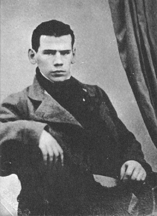 Tolstói ainda jovem e sem sua grande barba