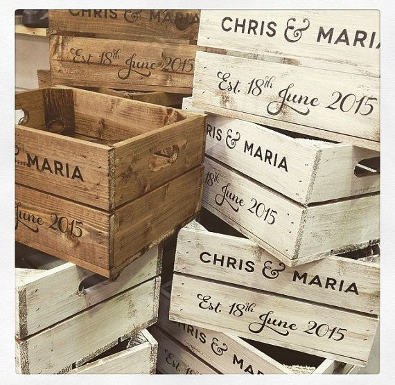 Personalised Wedding Half Crate – Optional Lid