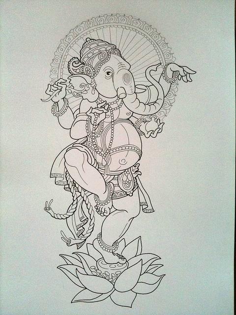 Dancing Lord Ganesh by Jeckylll, via Flickr