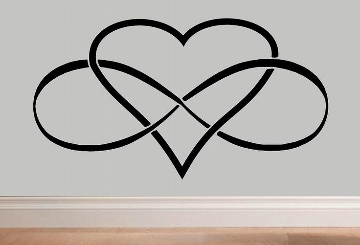 Infinity Heart Infinity symbol wall decal WD Love wall decal bedroom decor infinity loop wall quote vinyl lettering home decor love decal by WallDecalsAndQuotes on Etsy https://www.etsy.com/listing/236902520/infinity-heart-infinity-symbol-wall