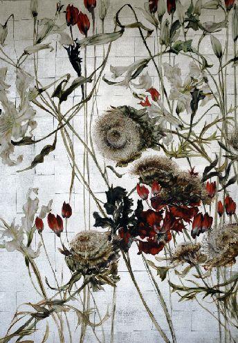 Claire Basler - Contemporary Artist - Flowers - Peinture 088