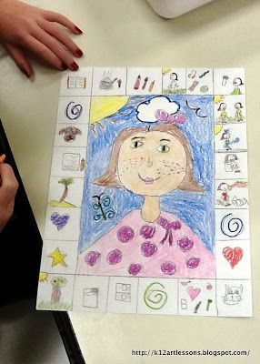 2nd & 3rd Grade Self-Portraits | Art Lesson Plans for K-12