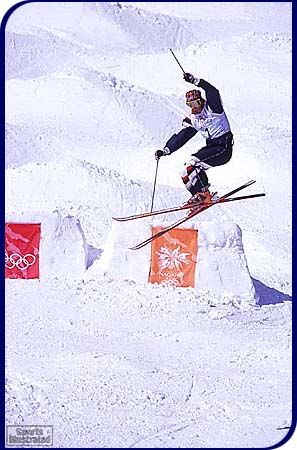 Jonny Moseley earned Gold at the 1998 Nagano, Japan  Olympics in Freestyle Skiing Moguls competition.