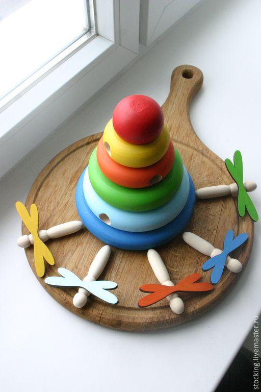 Купить Развивающая игрушка Пирамидка-домик для стрекоз. - развивающая игрушка…