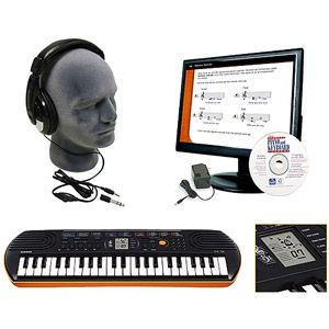 Casio SA76 44-Key Mini Personal Keyboard Package with Educational Software