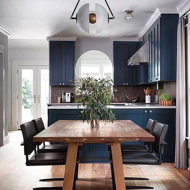 Blue Kitchen With Backsplash: 1000+ Ideas About Dark Blue Kitchens On Pinterest