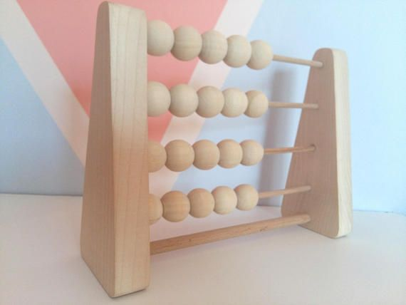 Abacus Wood  Wooden Counting Toy  Learning Toys  Montessori