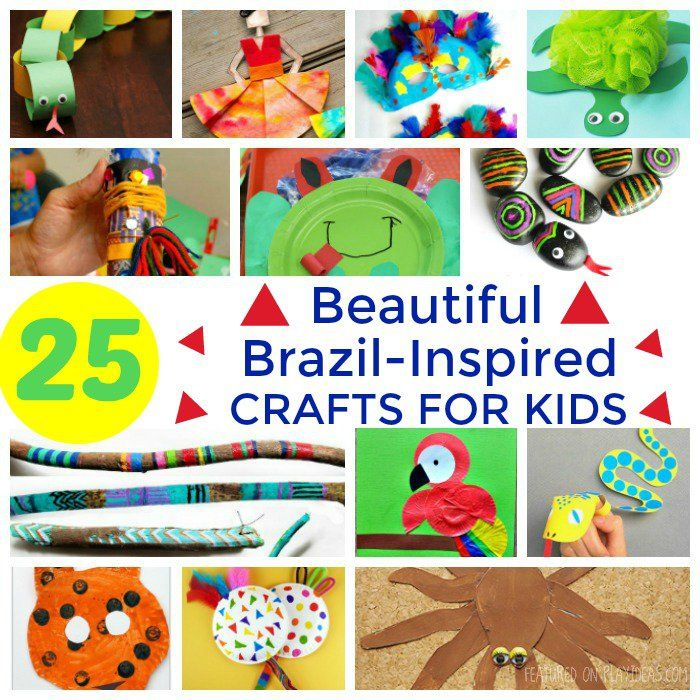 25 Beautiful Brazil Inspired Crafts For Kids Crafts For