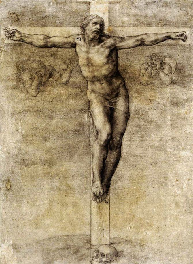 Christ on the Cross by Michelangelo Buonarroti, 1541