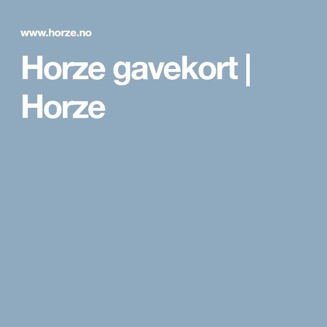 Horze gavekort | Horze