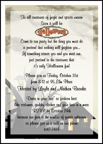 Spooky Halloween Fright Night Party Invitation Cards Number 7797CS HW  Exclusively At CardsShoppe.com