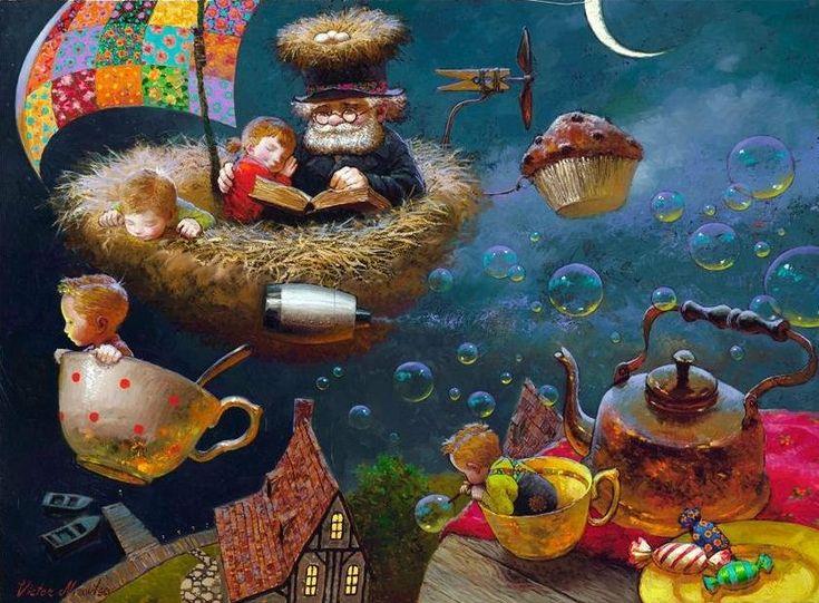 Художник Виктор Низовцев. Детские иллюстрации. Сказка для внучки