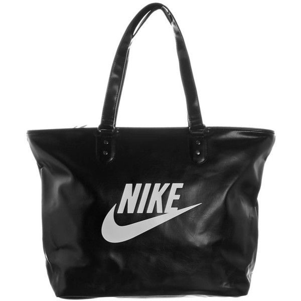 Nike Sportswear HERITAGE Shopping Bag (840 CZK) ❤ liked on Polyvore featuring bags, accessories, nike, purses, black, zipper bag, shopper handbags, nike bag and shopping bag