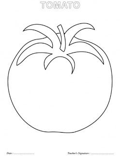 0 level coloring page vegetables | Kids coloring pages