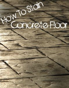 How to Stain a Concrete Floor