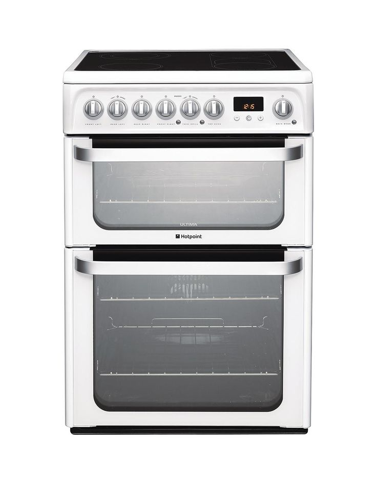Ultima HUE61PS 60cm Double Oven Electric Cooker with Ceramic Hob - White, http://www.very.co.uk/hotpoint-ultima-hue61ps-60cm-double-oven-electric-cooker-with-ceramic-hob-white/1310428819.prd