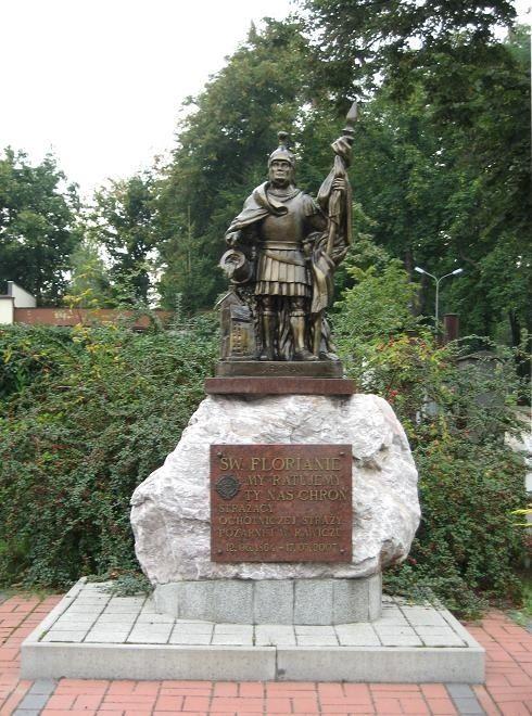 Rawicz - Pomnik św. Floriana. Atrakcje turystyczne Rawicza. Ciekawe miejsca Rawicza