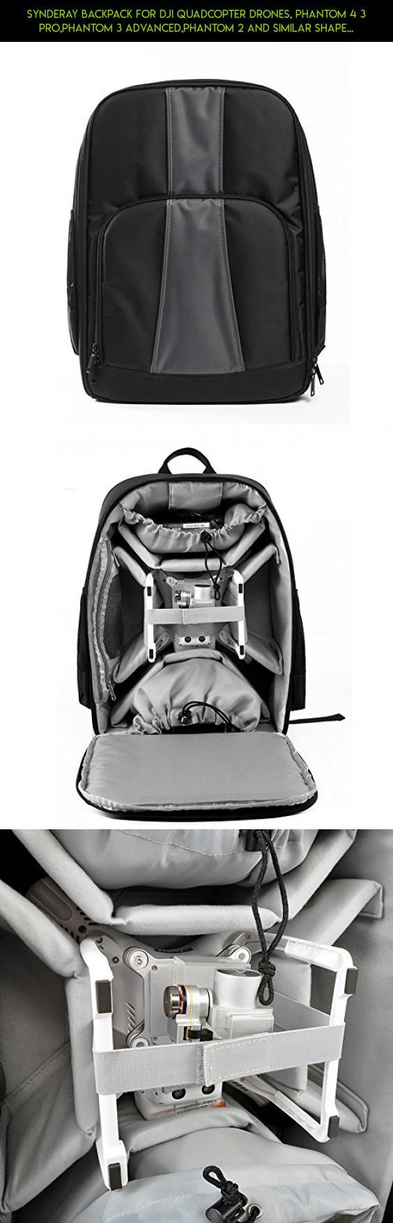SyndeRay Backpack for DJI Quadcopter Drones, Phantom 4 3 Pro,Phantom 3 Advanced,Phantom 2 and Similar Shape Drones,Extra Light,Water Resistant,and Fits Extra Accessories Gopro Cameras and Laptop #fpv #technology #racing #drone #plans #xiro #drone #tech #products #accessories #kit #parts #camera #shopping #gadgets