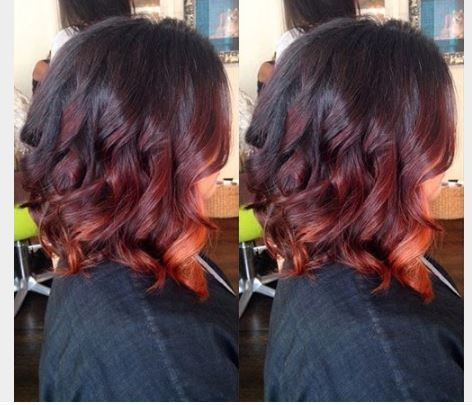 Kızıl ton balyaj saç renkleri